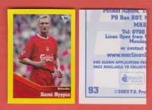 Liverpool Sami Hyypia Finland 93 UBL